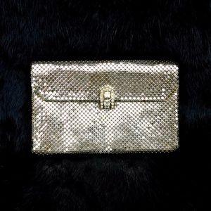 40's Whiting&Davis Silver Mesh Bag/RhinestoneClasp